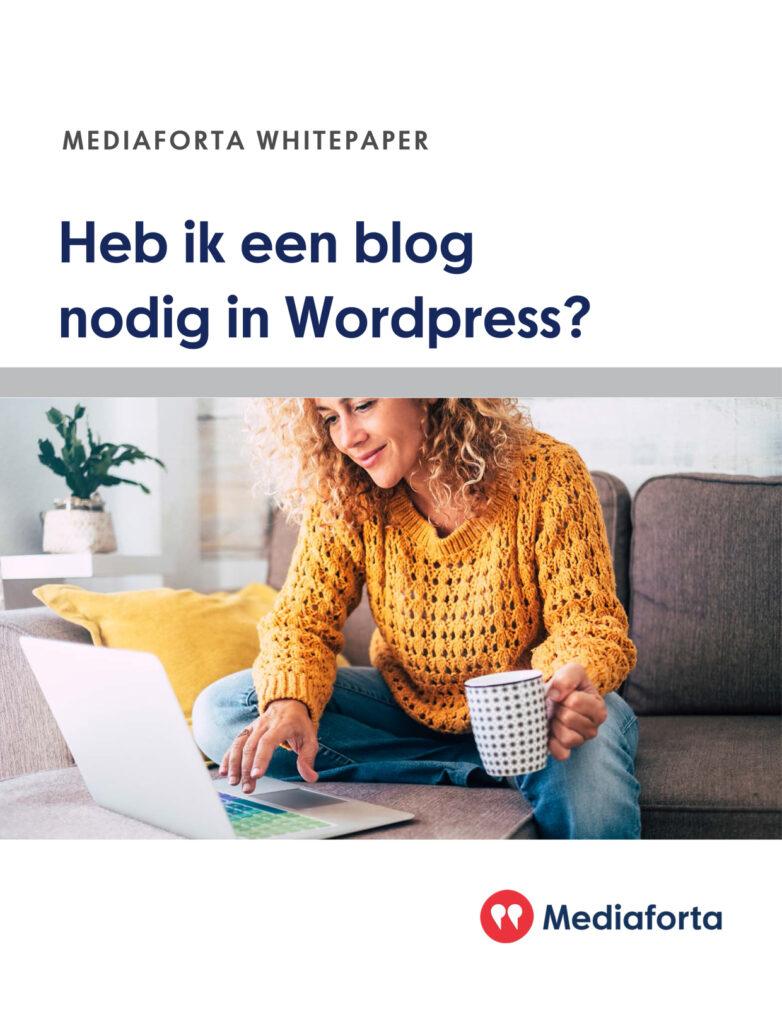 Blogs bouwen Mediaforta